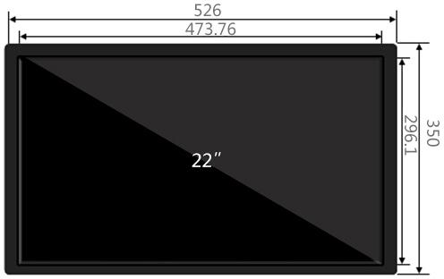 22寸壁挂广告机尺寸参数