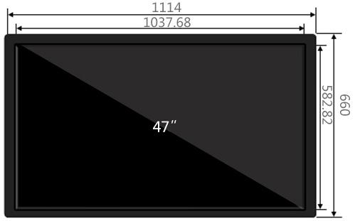 47寸壁挂广告机尺寸参数