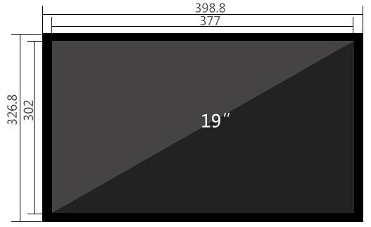 19寸液晶监视器尺寸参数
