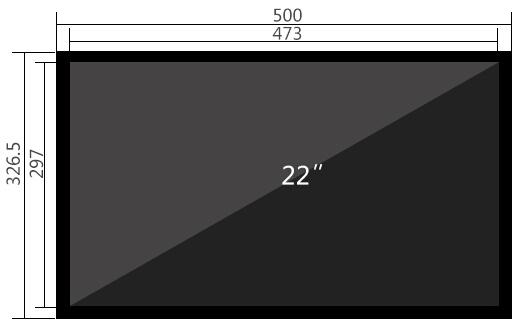 22寸液晶监视器尺寸参数