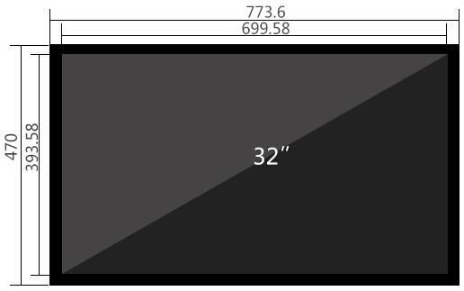 32寸液晶监视器尺寸参数